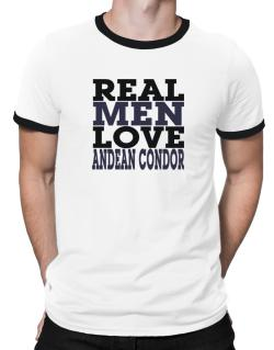 Real Men Love Andean Condor Ringer T-Shirt