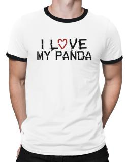 I Love My Panda Ringer T-Shirt
