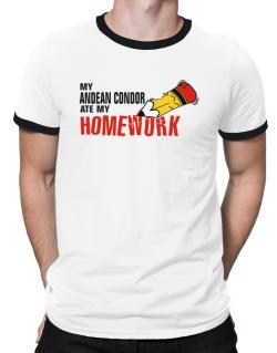 My Andean Condor Ate My Homework Ringer T-Shirt