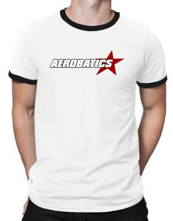 Aerobatics Usa Star Ringer T-Shirt