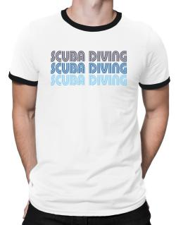 Scuba Diving Retro Color Ringer T-Shirt