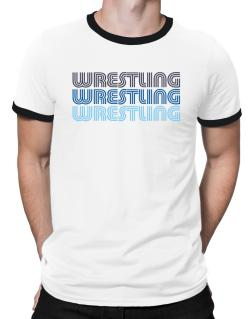 Wrestling Retro Color Ringer T-Shirt