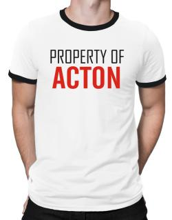 Property Of Acton Ringer T-Shirt