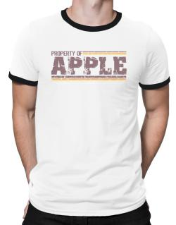 Property Of Apple - Vintage Ringer T-Shirt