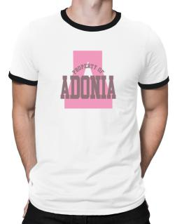 Property Of Adonia Ringer T-Shirt