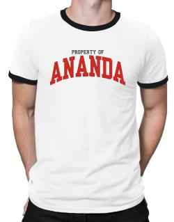 Property Of Ananda Ringer T-Shirt