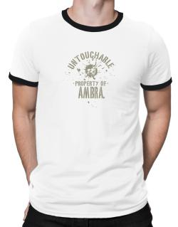 Untouchable Property Of Ambra - Skull Ringer T-Shirt