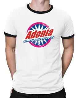 Adonia - With Improved Formula Ringer T-Shirt