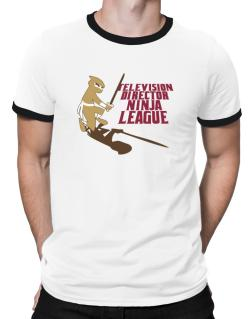Television Director Ninja League Ringer T-Shirt