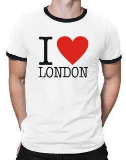 I Love London Classic Ringer T-Shirt