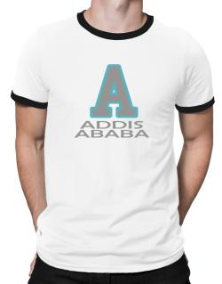 """ Addis Ababa - Initial "" Ringer T-Shirt"