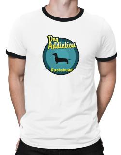 Dog Addiction : Dachshund Ringer T-Shirt