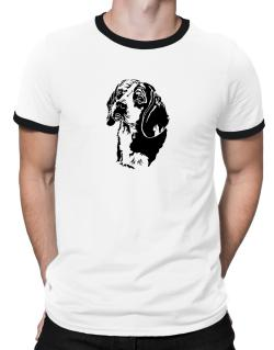 Beagle Face Special Graphic Ringer T-Shirt