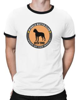 Boston Terrier - Wiggle Butts Club Ringer T-Shirt