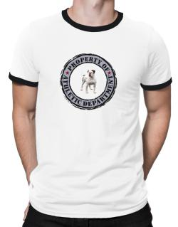 """ PROPERTY OF American Bulldog ATHLETIC DEPARTMENT TRANSFER "" Ringer T-Shirt"