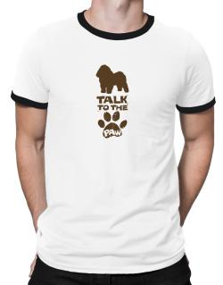 Talk To The Paw Bolognese Ringer T-Shirt