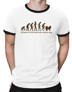 Evolution Of The American Eskimo Dog Ringer T-Shirt