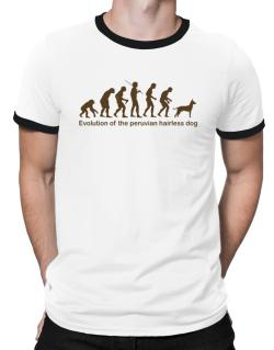 Evolution Of The Peruvian Hairless Dog Ringer T-Shirt