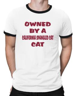 Owned By S California Spangled Cat Ringer T-Shirt