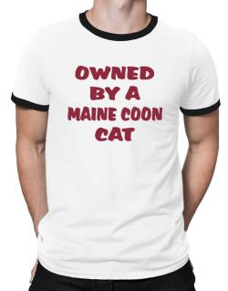 Owned By S Maine Coon Ringer T-Shirt