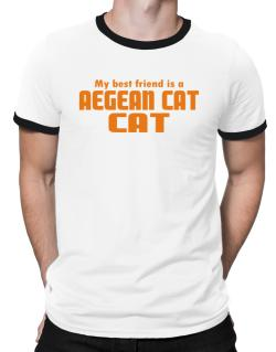 My Best Friend Is An Aegean Cat Ringer T-Shirt