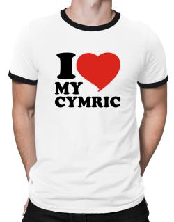 I Love My Cymric Ringer T-Shirt