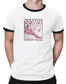 Ambient House - Musical Notes Ringer T-Shirt