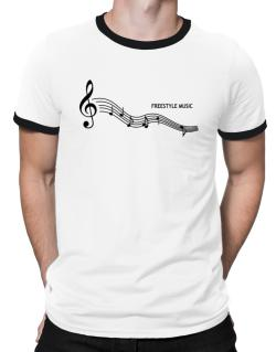 Freestyle Music - Notes Ringer T-Shirt