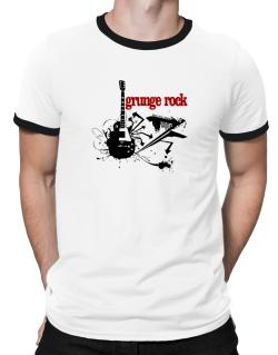 Grunge Rock - Feel The Music Ringer T-Shirt