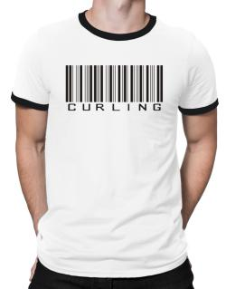 Curling Barcode / Bar Code Ringer T-Shirt