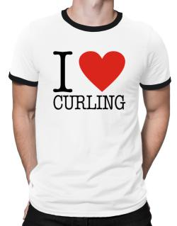 I Love Curling Classic Ringer T-Shirt