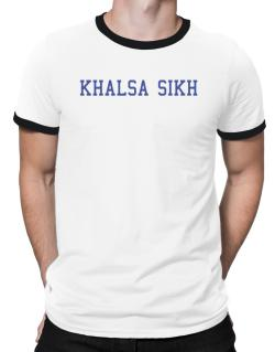 Khalsa Sikh - Simple Athletic Ringer T-Shirt