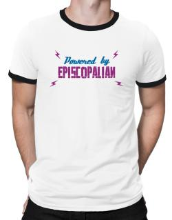 Powered By Episcopalian Ringer T-Shirt