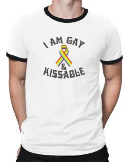 I Am Gay And Kissable Ringer T-Shirt
