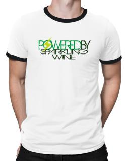 Powered By Sparkling Wine Ringer T-Shirt