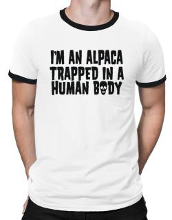 I Am Alpaca Trapped In A Human Body Ringer T-Shirt
