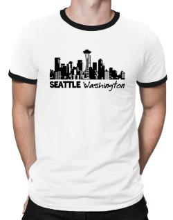 Seattle, Washington skyline Ringer T-Shirt