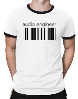 Audio Engineer barcode Ringer T-Shirt