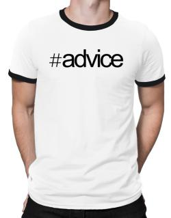 Hashtag Advice Ringer T-Shirt