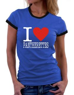 I Love Pantherettes Women Ringer T-Shirt