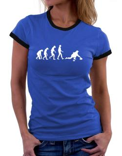 Curling Evolution Women Ringer T-Shirt