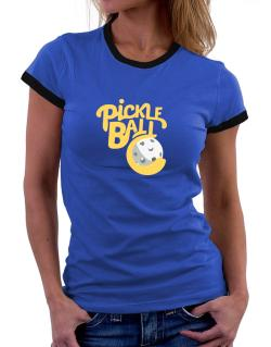 Pickleball Women Ringer T-Shirt