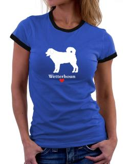 Wetterhoun love Women Ringer T-Shirt