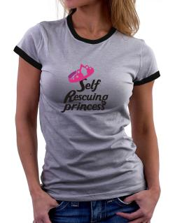 Self Rescuing Princess  Women Ringer T-Shirt