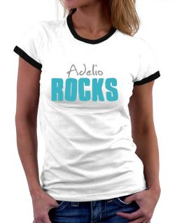 Adelio Rocks Women Ringer T-Shirt