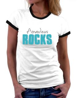 Amadeus Rocks Women Ringer T-Shirt