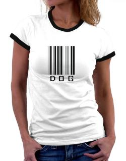 Dog Barcode / Bar Code Women Ringer T-Shirt