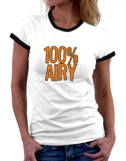 100% Airy Women Ringer T-Shirt