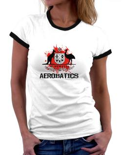 Australia Aerobatics / Blood Women Ringer T-Shirt
