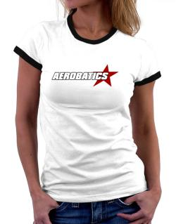 Aerobatics Usa Star Women Ringer T-Shirt